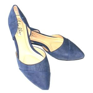 Abella blue suede new without tags pointed flats